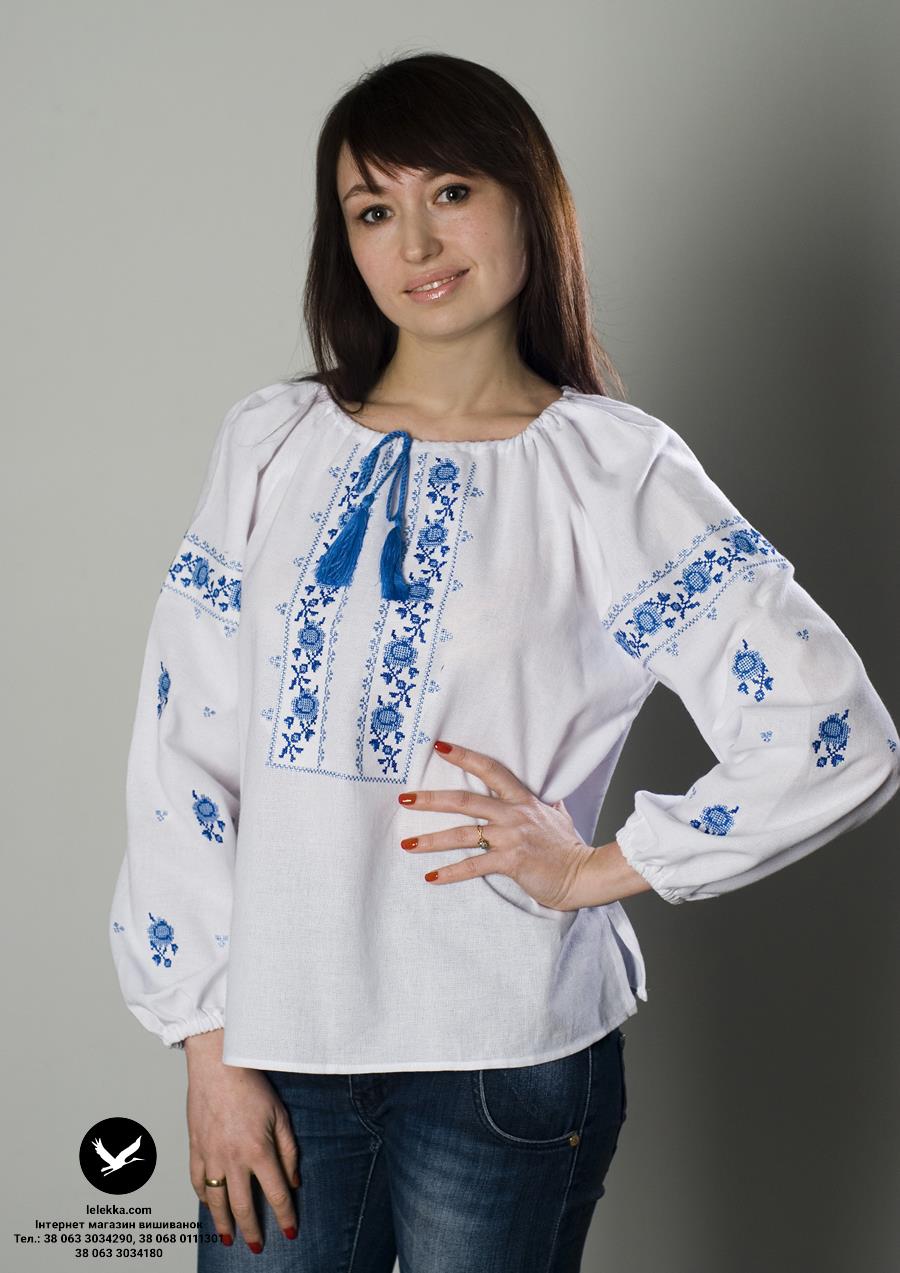 Недорога жіноча вишиванка Ружа з переду. e3848d02d102c