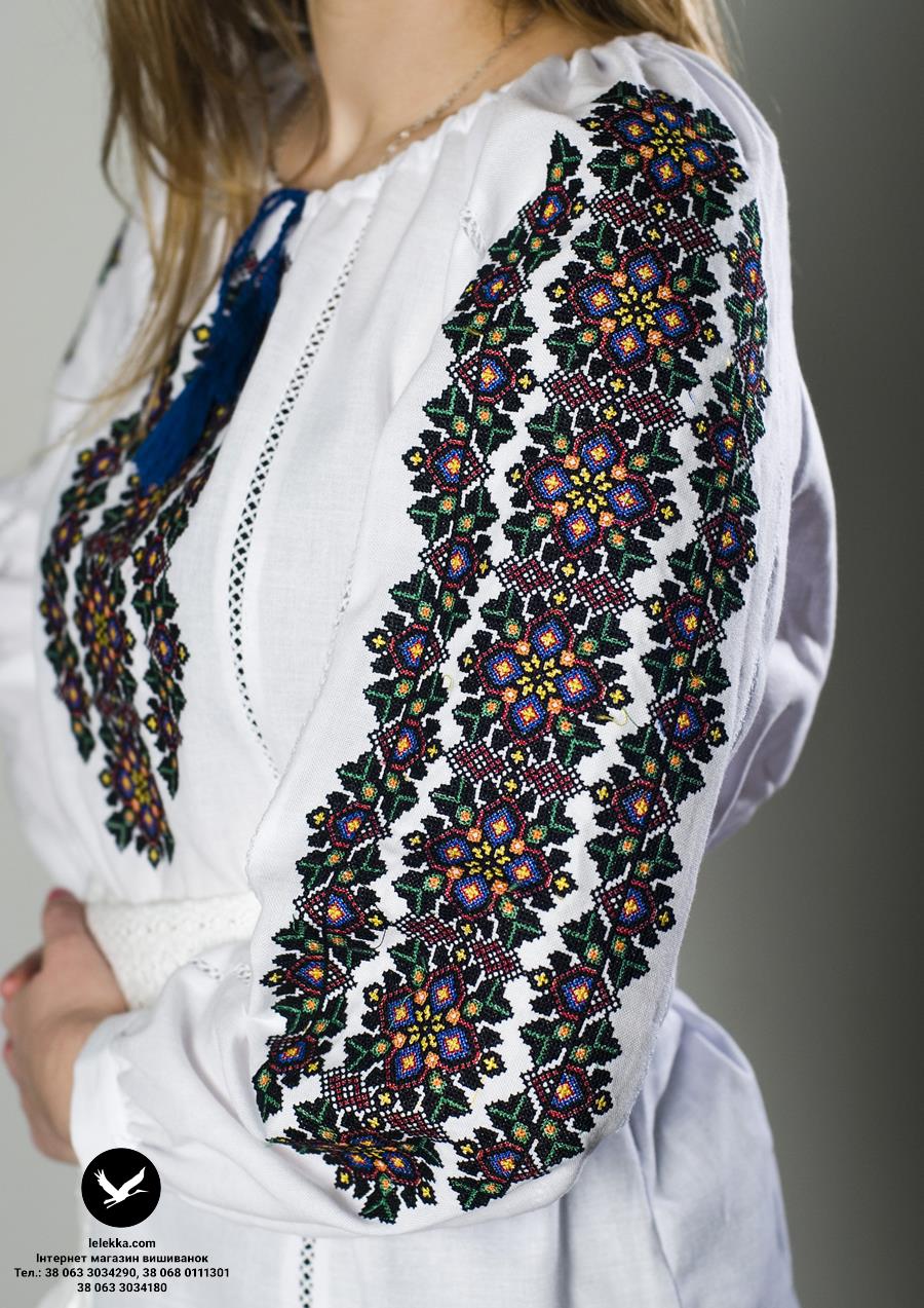 Вишита сорочка жіноча Барвінок з боку. 442c260501a99