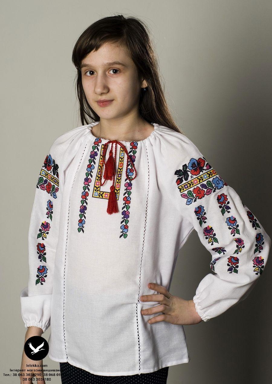 Вишиванка для дівчаток Гаївка з переду. 862ac2ee878b9